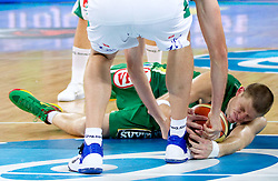 Marijonas Petravicius of Lithuania during friendly match before Eurobasket Lithuania 2011 between National teams of Slovenia and Lithuania, on August 24, 2011, in Arena Stozice, Ljubljana, Slovenia. Slovenia defeated Lithuania 88-66. (Photo by Vid Ponikvar / Sportida)