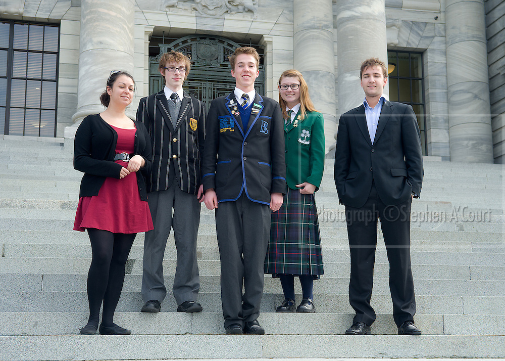 Team-portrait at the NZ Schools Debating Championships, 2012.