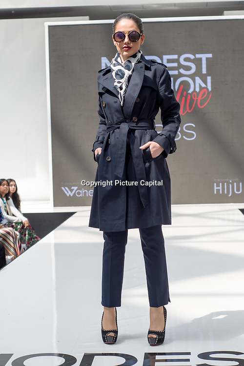Hobbs  showcases it latest collection Modest and beautiful at the Modest and Beautiful a Modest Fashion Live at The Atrium in Westfield London on June 24, 2018.