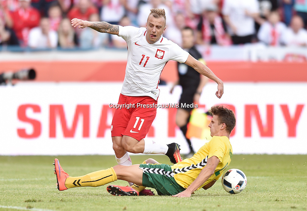 2016.06.06 Krakow<br /> Pilka nozna<br /> kadra reprezentacja mecz towarzyski<br /> Polska - Litwa<br /> N/z Kamil Grosicki<br /> Foto Lukasz Laskowski / PressFocus<br /> <br /> 2016.06.06 Krakow<br /> Football friendly game<br /> Poland vs Lithuania<br /> Kamil Grosicki<br /> Credit: Lukasz Laskowski / PressFocus
