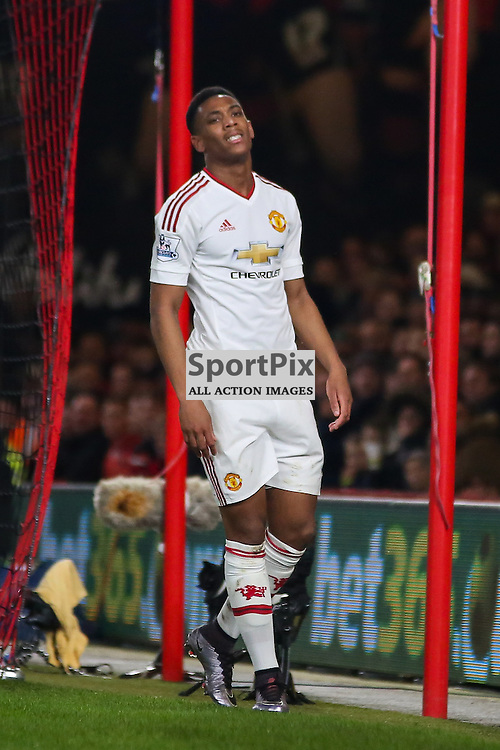 Anthony Martial of Manchester United looks frustrated During Bournemouth vs Manchester United on Saturday the 12th December 2015.