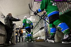 Matic Kralj of HK SZ Olimpija during ice hockey match between HK SZ Olimpija and HDD SIJ Acroni Jesenice in AHL - Alps Hockey League 2017/18, on October 25, 2017 in Hala Tivoli, Ljubljana, Slovenia. Photo by Matic Klansek Velej / Sportida