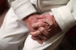 Embargoed to 0001 Wednesday June 28 File photo dated 22/12/2016 of an elderly woman's hands. More social care cuts will hit elderly and disabled people due to a funding shortfall, leaders of adult social services have said.