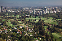 Views across Los Angeles Country Club, California.