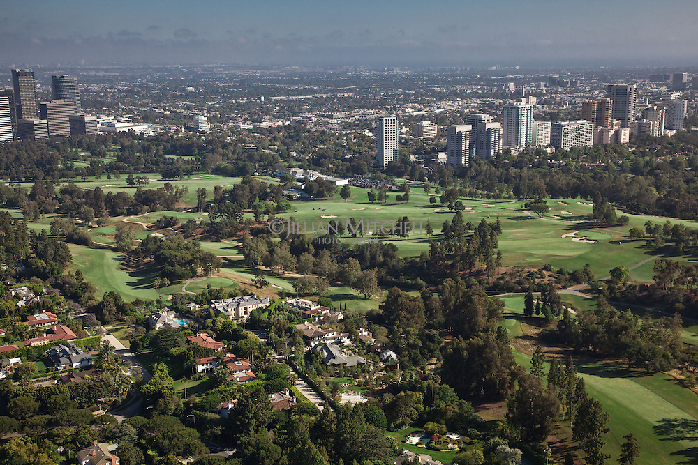Views across Los Angeles Country Club, California.