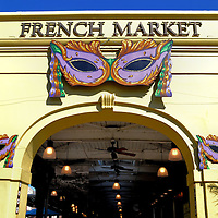 French Market Arch Entry in New Orleans, Louisiana<br />