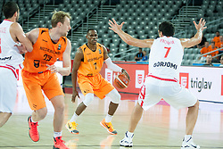 Charlon Kloof of Netherlands during basketball match between Georgia and Netherlands at Day 1 in Group C of FIBA Europe Eurobasket 2015, on September 5, 2015, in Arena Zagreb, Croatia. Photo by Vid Ponikvar / Sportida