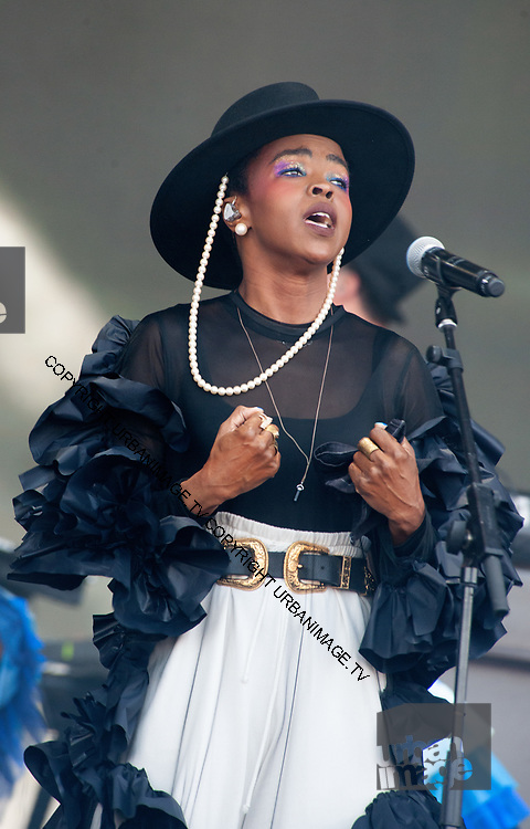 Glastonbury, Lauryn Hill performs on stage during day three of the lGlastonbury Festival 2019