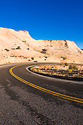 Highway 12 scenic byway winding through the Escalante Canyons, Grand Staircase-Escalante National Monument, Utah