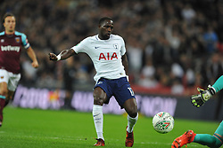 MOUSSA SISSOKO FIRES IN TOTTENHAMS FIRST GOAL,  Tottenham Hotspur  v West Ham United, EFL  Carabao Cup Fourth Round, Wembley Stadium Wednesday 25th October 2017, Score 2-3 <br /> Photo:Mike Capps