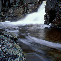 Rocky Glen Falls.  Cascade Brook.   White Mountain N.F.  Waterfall.  Franconia Notch SP, NH