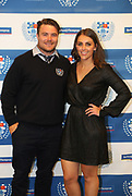 Kurt Eklund and partner during the Auckland Rugby awards night held at Eden Park on the 25th of October 2017. <br /> Credit; Peter Meecham/ www.photosport.nz