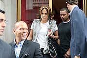Jennifer Lopez leaves Upper East Side restaurant Rouge Tomate.