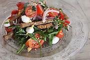 Tomato, mozzarella cheese and basil salad