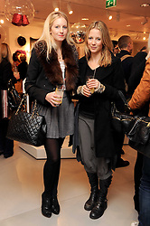 Left to right, SAVANNAH MILLER and TILLY WOOD at the H&M Home Launch held at 174-176 Oxford Street, London W1 on 2nd November 2010.