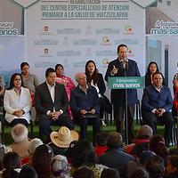 Lerma, México (Julio 21, 2016).- Eruviel Ávila Villegas, gobernador del Estado de México y José Narro, Secretario de Salud federal, entregaron la rehabilitación del Centro Especializado de Atención Primaria a la Salud en Huitzizilapan.  Agencia MVT / José Hernández