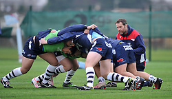 Bristol Academy forwards coach Mark Irish looks on - Mandatory by-line: Paul Knight/JMP - 07/01/2017 - RUGBY - SGS Wise Campus - Bristol, England - Bristol Academy U18 v Exeter Chiefs U18 - Premiership U18 League