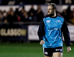 Cory Allen of Ospreys during the pre match warm up<br /> <br /> Photographer Simon King/Replay Images<br /> <br /> Guinness PRO14 Round 7 - Ospreys v Connacht - Friday 26th October 2018 - The Brewery Field - Bridgend<br /> <br /> World Copyright © Replay Images . All rights reserved. info@replayimages.co.uk - http://replayimages.co.uk