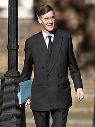 © Licensed to London News Pictures. 22/07/2019. London, UK. Jacob Rees Mogg arrives for Prime Minister Theresa May's farewell drinks reception at Downing Street.  Voting in the Conservative party leadership election ends today with the results to be announced tomorrow. Photo credit: Peter Macdiarmid/LNP