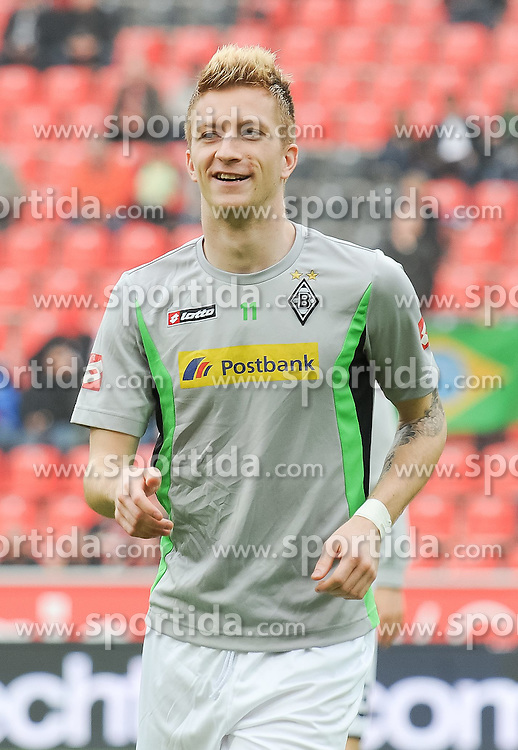 17.03.2012, Bay Arena, Leverkusen, GER, 1. FBL, Bayer 04 Leverkusen vs Borussia Moenchengladbach, 26. Spieltag, im Bild Marco Reus ( Borussia Moenchengladbach/ Portrait ) gut gelaunt/ lacht. // during the German 'Bundesliga' Match, 26th Round, between Bayer 04 Leverkusen and Borussia Moenchengladbach at the SGL Arena, Augsburg, Germany on 2012/03/17. EXPA Pictures © 2012, PhotoCredit: EXPA/ Eibner/ Thomas Thienel..***** ATTENTION - OUT OF GER *****