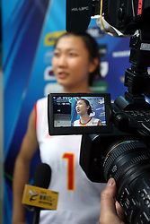 China Yuan Xinyue interview in mix zone