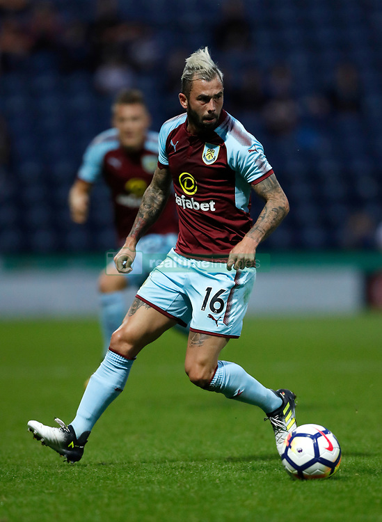 """Burnley's Steven Defour during the pre-season friendly match at Deepdale, Preston. PRESS ASSOCIATION Photo. Picture date: Tuesday July 25, 2017. See PA story SOCCER Preston. Photo credit should read: Martin Rickett/PA Wire. RESTRICTIONS: EDITORIAL USE ONLY No use with unauthorised audio, video, data, fixture lists, club/league logos or """"live"""" services. Online in-match use limited to 75 images, no video emulation. No use in betting, games or single club/league/player publications."""