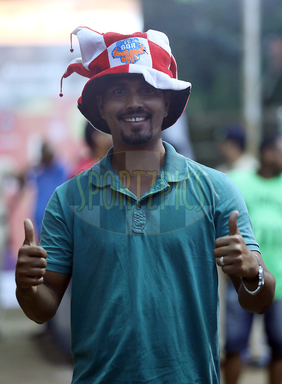 Fan's arrives for the match 8 of the Indian Super League (ISL) season 3 between FC Goa and FC Pune City held at the Fatorda Stadium in Goa, India on the 8th October 2016.<br /> <br /> Photo by Sandeep Shetty / ISL/ SPORTZPICS