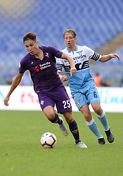 October 7, 2018 - Rome, Italy - Federico Chiesa during the Italian Serie A football match between S.S. Lazio and Fiorentina at the Olympic Stadium in Rome, on october 07, 2018. (Credit Image: © Silvia Lore/NurPhoto/ZUMA Press)