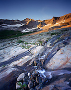 EVENING LIGHT ON GLACIER POLISHED ROCKS OF BOSTON BASIN, NORTH CASCADES NATIONAL PARK WASHINGTON