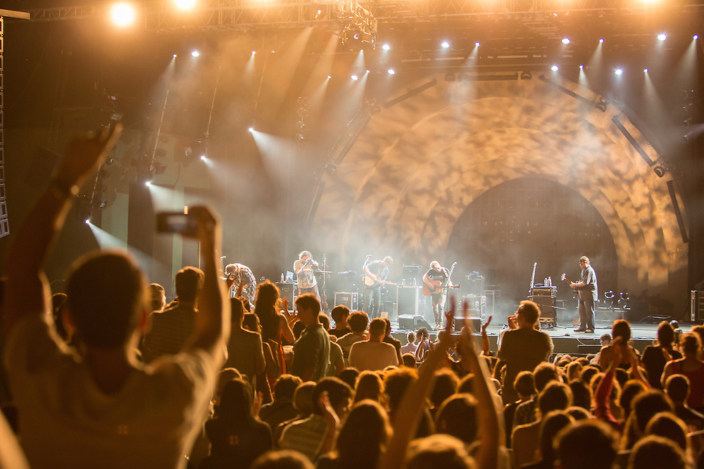 An enthusiastic crowd filled the Prospect Park Bandshell for the Trampled by Turtles concert at Celebraet Brooklyn.