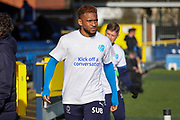AFC Wimbledon attacker Julien Lamy (17) wearing kick off a conversation t shirt during the EFL Sky Bet League 1 match between AFC Wimbledon and Fleetwood Town at the Cherry Red Records Stadium, Kingston, England on 8 February 2020.