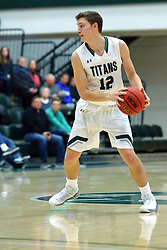 17 November 2017:  Jason Gregoire during an College men's division 3 CCIW basketball game between the Alma Scots and the Illinois Wesleyan Titans in Shirk Center, Bloomington IL