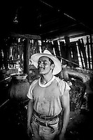 A mezcal worker outside Oaxaca, Mexico