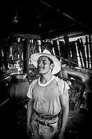 A mezcal worker outside Oaxaca, Mexico