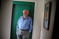 Picture By Jim Wileman  28/07/2009  Joss Ackland pictured at his home in Clovelly. North Devon.