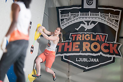 Chloe Caulier (BEL) at Fnal of Climbing event - Triglav the Rock Ljubljana 2018, on May 19, 2018 in Congress Square, Ljubljana, Slovenia. Photo by Urban Urbanc / Sportida