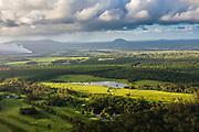Aerial view of the rural area near Lake Cootharaba, Sunshine Coast, Queensland, Australia