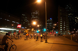 19 AUG 2009-The weekly ride of the Denver Cruisers takes place every Wednesday evening throughout downtown Denver,Co.