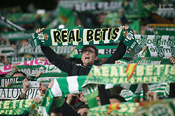 February 7, 2019 - Seville, Spain - betis fans  during the Spanish Copa del Rey (King's Cup) semi-final first leg football match between Real Betis and Valencia CF at the Benito Villamarin stadium in Seville on February 7, 2019. (Credit Image: © Raddad Jebarah/NurPhoto via ZUMA Press)