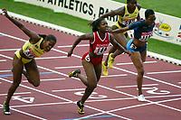 Athletics, 27. august 2003, VM Paris, World Championship in Athletics,  100 metres hurdles: Perdita Felicien, Canada won before Birgitte Foster, Jamaica