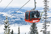 The Bridger Gondola at Jackson Hole Mountain Resort, Jackson Hole, Wyoming.