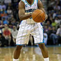 March 30, 2011; New Orleans, LA, USA; New Orleans Hornets point guard Chris Paul (3) against the Portland Trail Blazers during the first half at the New Orleans Arena.    Mandatory Credit: Derick E. Hingle