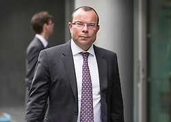 © Licensed to London News Pictures. 03/07/2017. London, UK. Businessman Jeff Blue leaves the High Court. Newcastle FC owner Mike Ashley is in dispute with financial expert Jeff Blue over payments promised in relation to the share price of Sports Direct. Photo credit: Peter Macdiarmid/LNP