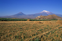 Armenie, Monastere de Khorvirap, Mont Ararat // Armenia, Khorvirap monastery, Ararat mount