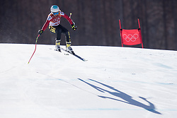 February 17, 2018 - Pyeongchang, South Korea - KIM VANREUSEL of Belgium in action during Alpine Skiing: Ladies' Super-G at Jeongseon Alpine Centre during the 2018 Pyeongchang Winter Olympic Games. (Credit Image: © Daniel A. Anderson via ZUMA Wire)