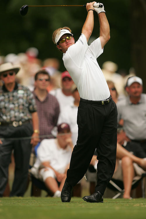 Brian Gay..2004 Colonial Invitational.Fourth Round.Colnial Country Club.Fort Worth, Texas.Sunday, May 23 2004.photograph by Darren Carroll