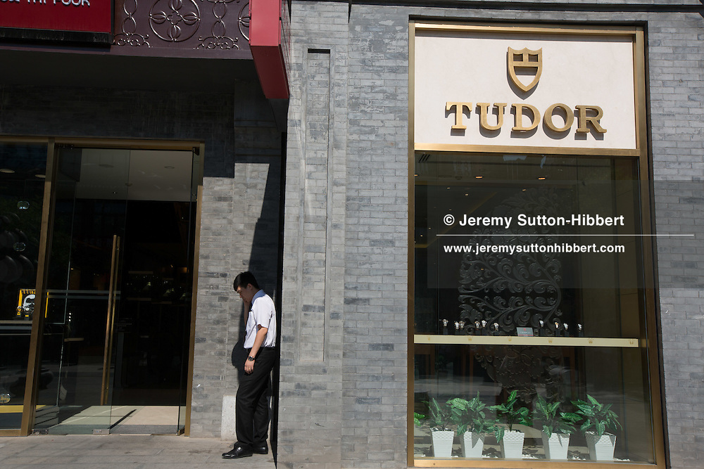 Qianmen Dajie shopping street, renovated to look like a QIng dnasty street, in Beijing, China, Wednesday 30th May 2012.