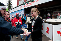 The House of Switzerland in Whistler offers visitors a taste of raclette during the 2010 Olympic Winter Games in Whistler, BC Canada.