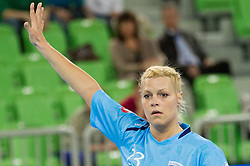 Ana Petrinja of Slovenia during handball match between Women National Teams of Slovenia and Czech Republic of 4th Round of EURO 2012 Qualifications, on March 25, 2012, in Arena Stozice, Ljubljana, Slovenia. (Photo by Vid Ponikvar / Sportida.com)