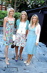 Left to right, LADY EMILY COMPTON, CAMILLA STOPFORD-SACKVILLE and LADY SYBILLA HART at the opening party of the new Frankie's Italian Bar and Grill hosted by Frankie Dettori, Marco Pierre White and Edward Taylor at 68 Chiswick High Road, London W4 on 1st September 2005.<br />